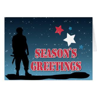 Soldier Season's Greetings Card