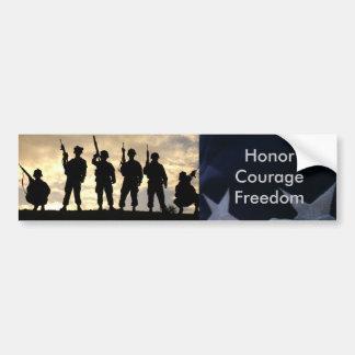 Soldier Silhouette Bumper Sticker