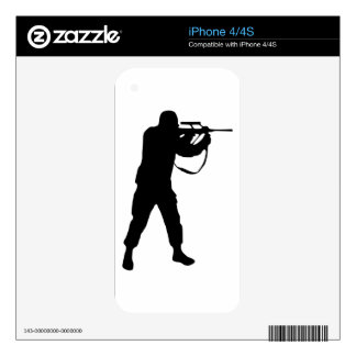 Soldier Silhouette iPhone 4 Skins