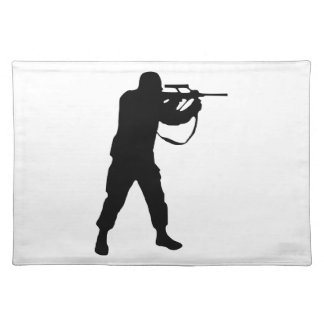 Soldier Silhouette Placemat