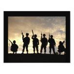 "Soldier Silhouettes 4.25"" X 5.5"" Invitation Card"