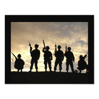 Soldier Silhouettes Card