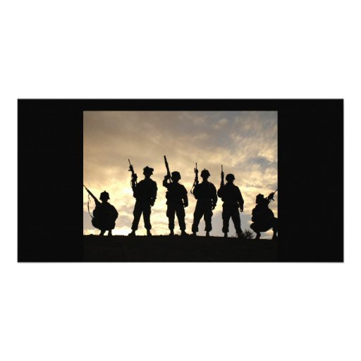 Soldier Silhouettes Photo Card Template
