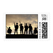 Soldier Silhouettes Postage