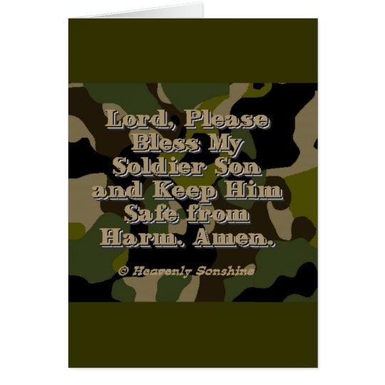 Soldier Son Prayer Card
