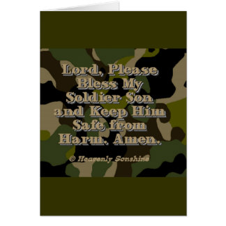 Soldier Son Prayer Greeting Card