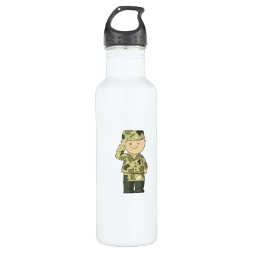 soldier stainless steel water bottle