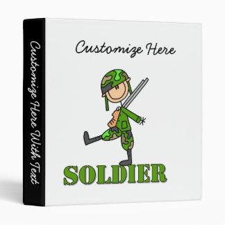 Soldier Stick Figure 3 Ring Binder