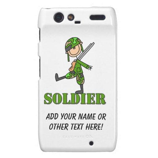 Soldier Stick Figure Droid RAZR Covers