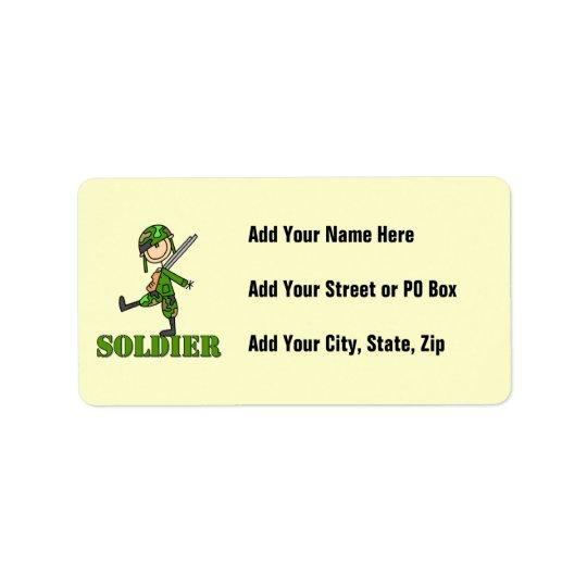 Soldier Stick Figure Label