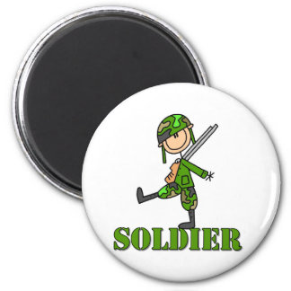 Soldier Stick Figure Magnet