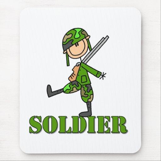 Soldier Stick Figure Mouse Pad