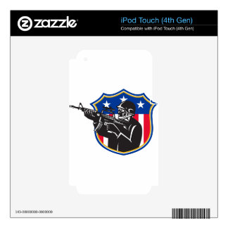 soldier swat policeman rifle shield iPod touch 4G skin