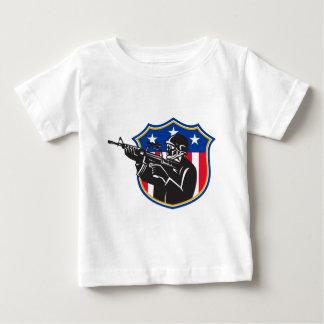 soldier swat policeman rifle shield t shirt