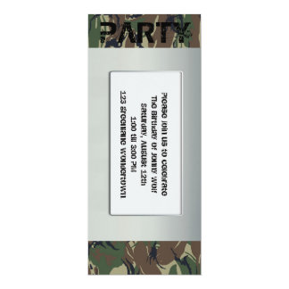 Soldier theme party invitation