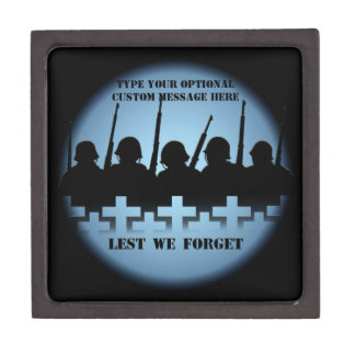 Soldier Tribute Box Lest We Forget Gift Box