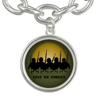 Soldier Tribute Bracelet Lest We Forget Jewelry