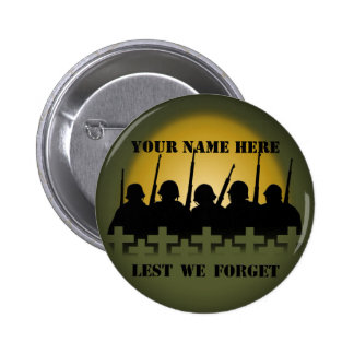 Soldier Tribute Buttons Lest We Forget War Buttons