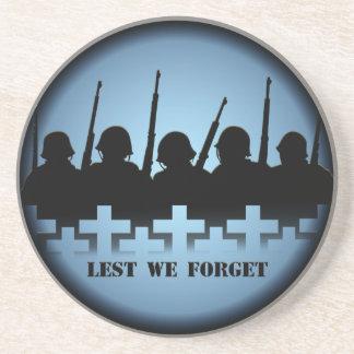 Soldier Tribute Coaster Lest We Forget War Decor