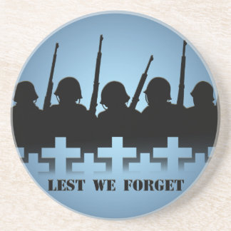Soldier Tribute Coaster Lest We Forget War Decor