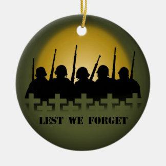 Soldier Tribute Keepsake Lest We Forget Ornament