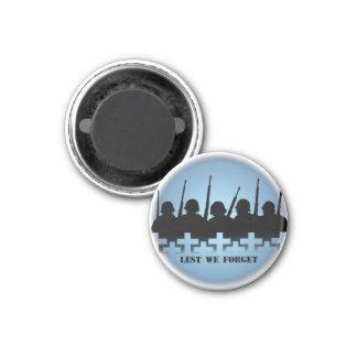 Soldier Tribute Magnet Lest We Forget War Gifts Magnet