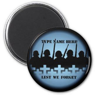 Soldier Tribute Magnet Lest We Forget War Magnet