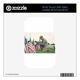 Soldier Visits Graves On Memorial Day iPod Touch 4G Skin