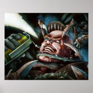 Soldier vs. Aliens Poster