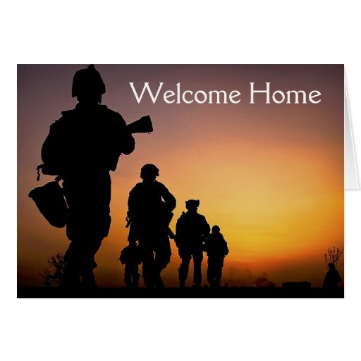 Soldier welcome home card zazzle for Welcome home soldier decorations