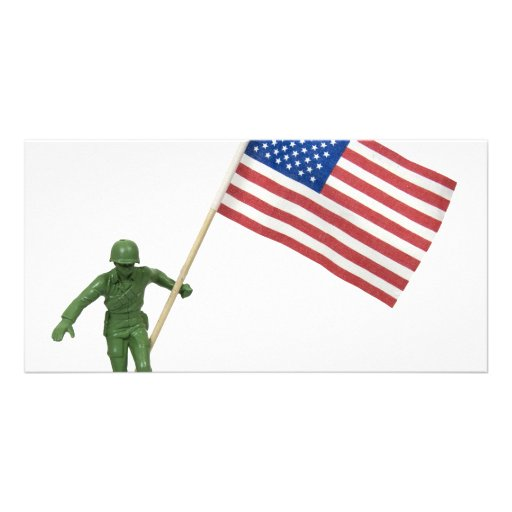 SoldierAmericanFlag072509 Tarjetas Con Fotos Personalizadas