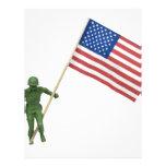 SoldierAmericanFlag072509 Tarjetas Publicitarias