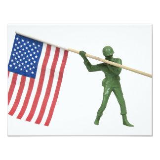 """SoldierAmericanFlag1072509 Invitación 4.25"""" X 5.5"""""""
