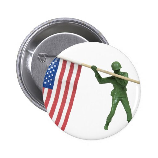SoldierAmericanFlag1072509 Pinback Button
