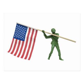 SoldierAmericanFlag1072509 Tarjetas Postales