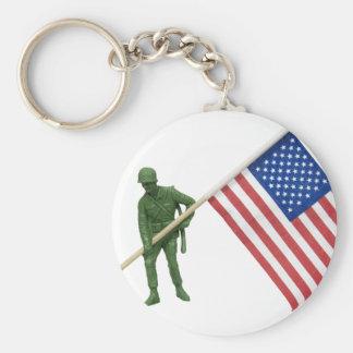 SoldierAmericanFlag2072509 Basic Round Button Keychain