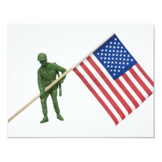 """SoldierAmericanFlag2072509 Invitación 4.25"""" X 5.5"""""""