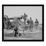Soldiers and 24 Pounder Siege Gun Ft Corcoran 1864 Print