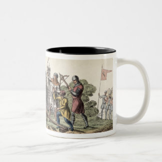 Soldiers and Artillery of the 15th Century, plate Two-Tone Coffee Mug
