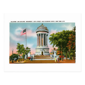 Soldier's and Sailor's Monument, NYC Postcard