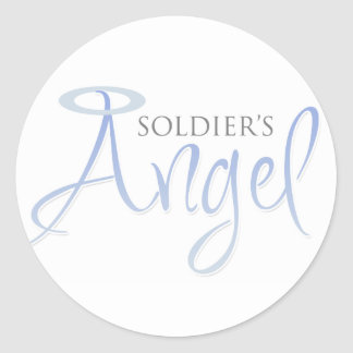 Soldier's Angel Classic Round Sticker
