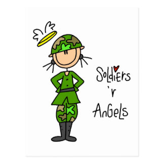 Soldiers Are Angels (Female) Postcards