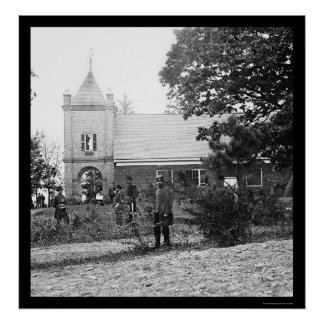 Soldiers at St Peter s Church in Virginia 1865 Poster