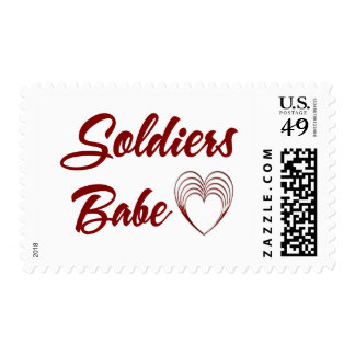 Soldiers Babe Stamp