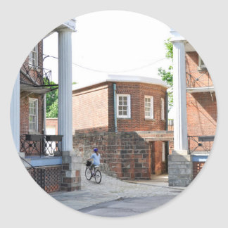Soldiers Barracks on Governor's Island Classic Round Sticker