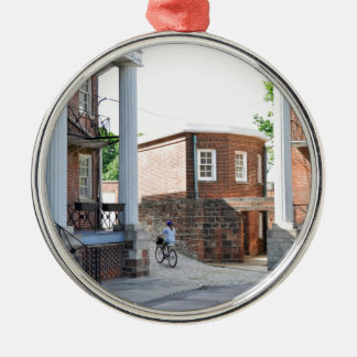 Soldiers Barracks on Governor's Island Metal Ornament