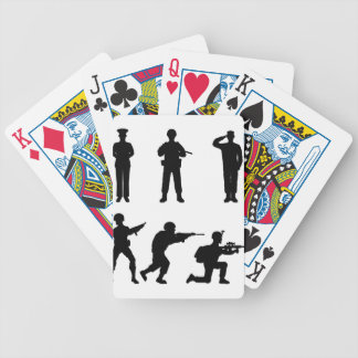 Soldiers Bicycle Playing Cards