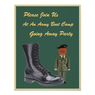 Soldier's Boot Camp Going Away Invitation