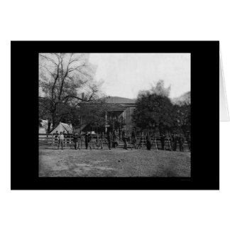 Soldiers by the Appomattox Court House 1865 Card