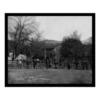 Soldiers by the Appomattox Court House 1865 Poster